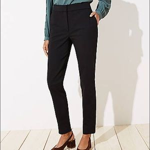 Ann Taylor LOFT Julie Straight black trousers